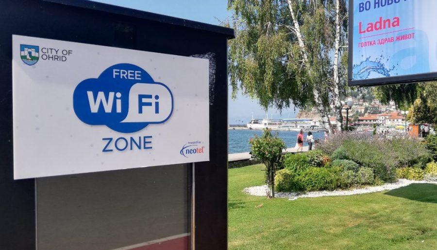 Две нови локации за бесплатен интернет во Охрид